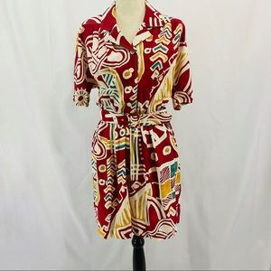 Vintage New Fastby C&A  Bold Print Romper